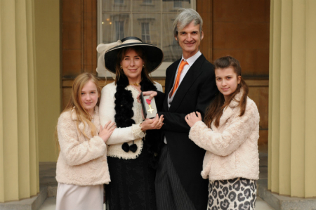 Andrew and family at Buckingham Palace
